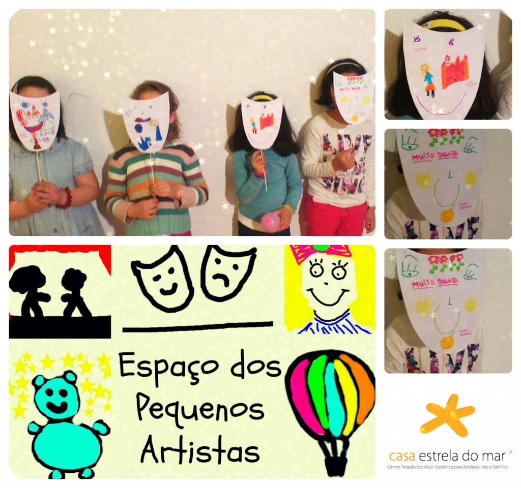 As pequenas artistas nos EPÁ's de dia 13 de Abril